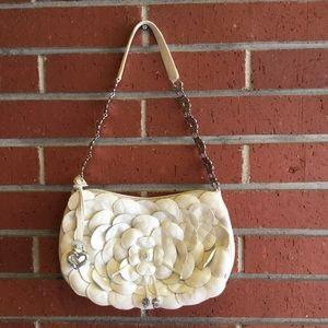 Brighton White Leather Shoulder Bag
